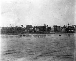 1892: View of the pier and waterfront from the St. John's River in Sanford