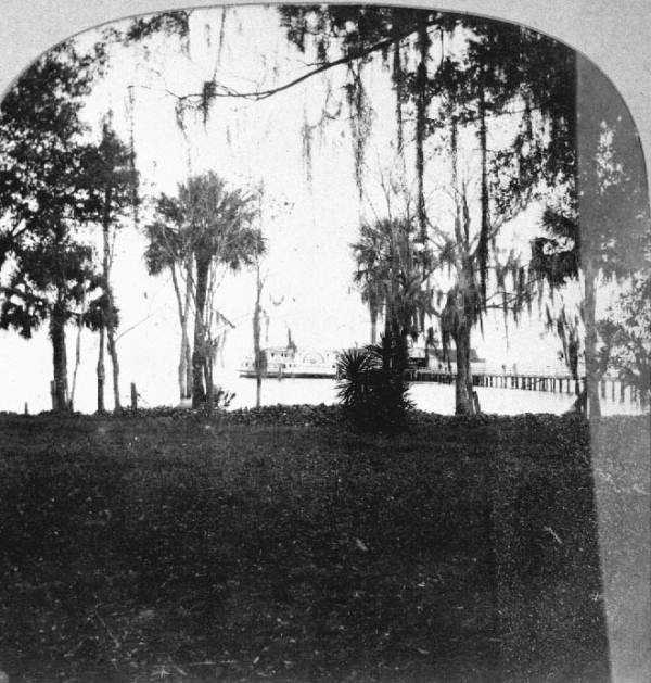 1908: View of the steamboat landing in Sanford
