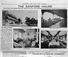 1910: Newspaper excerpt of the Sanford House in Sanford