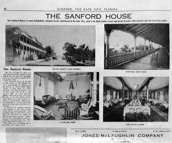 1910: Newspaper excerpt of the Sanford House in Sanford