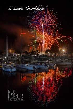 2013: View of fireworks from the pier in Sanford