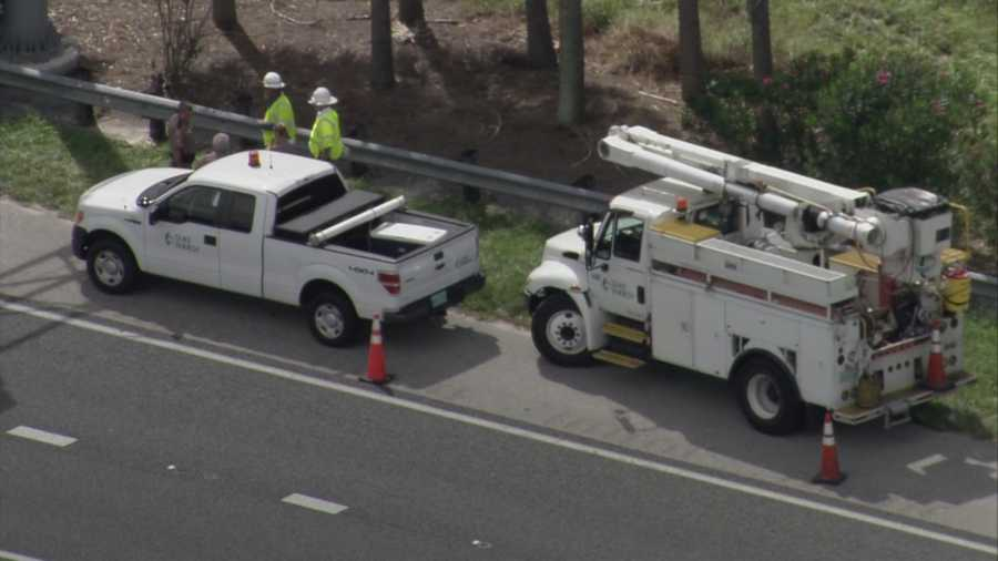 A body was found along the road on State Road 408 in Orlando on Friday morning.