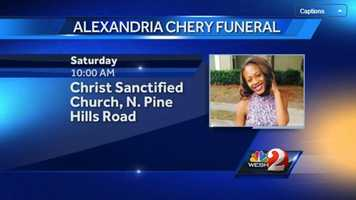 Aug. 23Alexandria Chery is laid to rest.