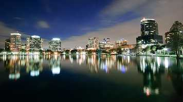 2. Orlando, FLPopulation: 246,513Violent Crimes: 10.34 per 1,000 residentsProperty Crimes: 67.85 per 1,000 residentsTotal Reported Crimes: 78.19 per 1,000 residents
