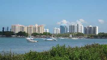 12. Sarasota, FLPopulation: 53,055Violent Crimes: 8.03 per 1,000 residentsProperty Crimes: 55.11 per 1,000 residentsTotal Reported Crimes: 63.14 per 1,000 residents