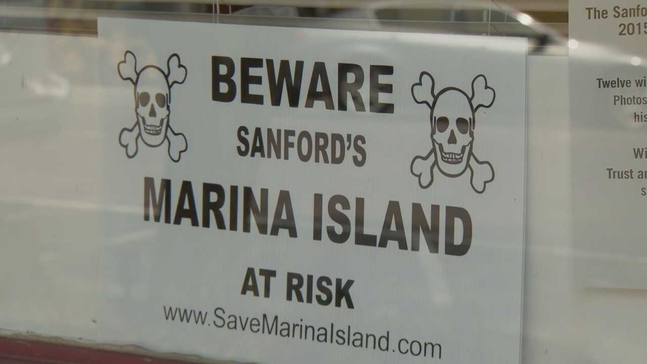 Opposing side face off on new plan for waterfront redevelopment in Sanford's Marina Island.