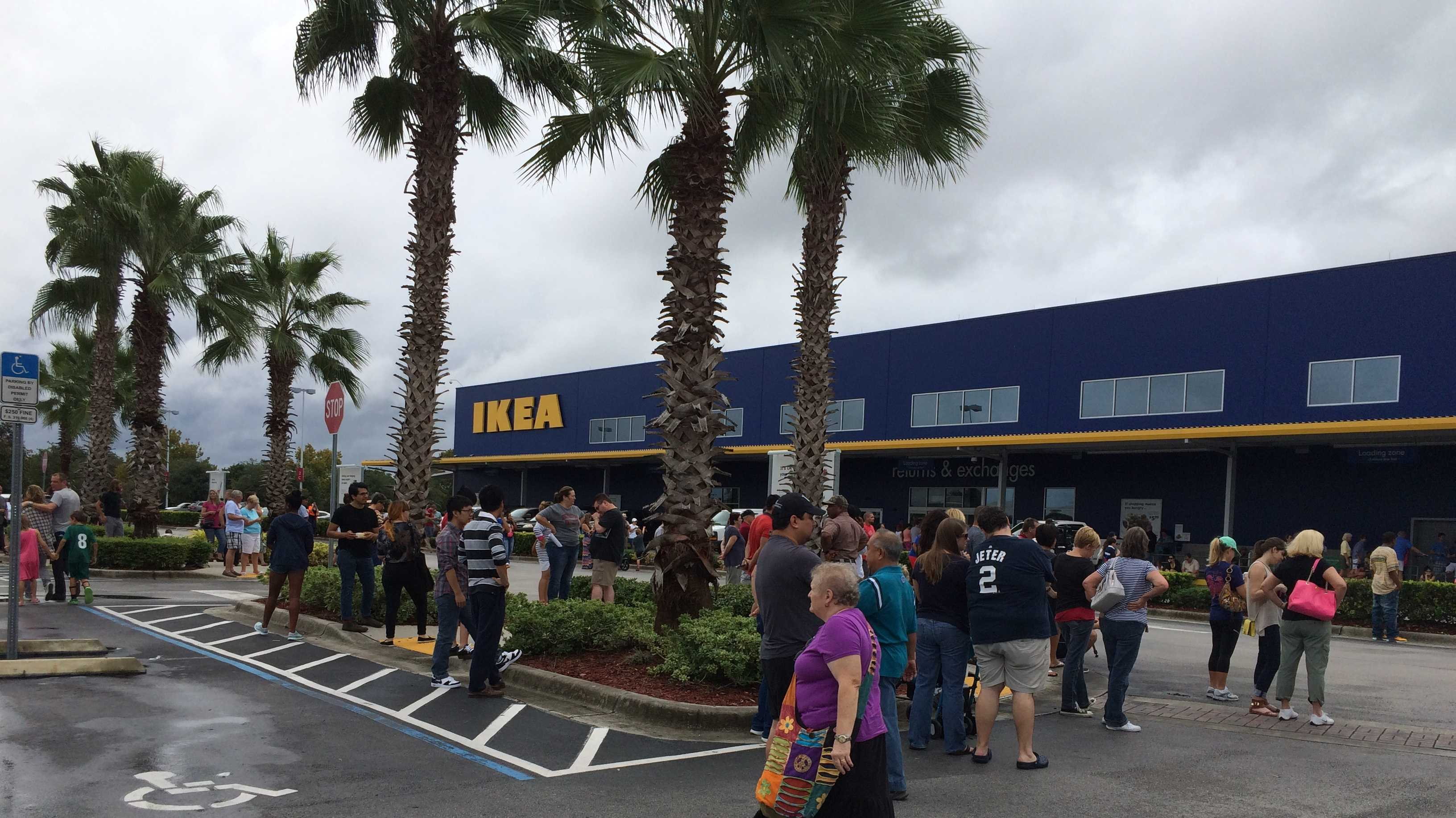 Shoppers evacuated from IKEA store when road rage suspects arrested