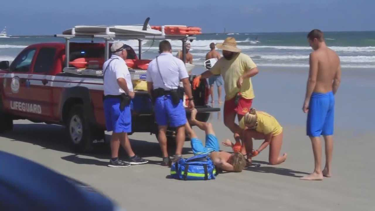 A Surfer talks about his INCREDIBLY CLOSE encounter with a shark on the Central Florida Coast.  The 24 year old from St. Petersburg  was surfing near the Jetty at New Smyrna Beach just before noon when he was bit on the foot.