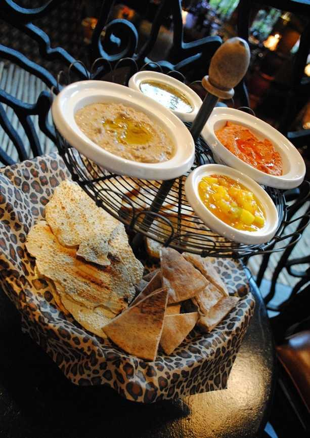 "Disney officials describe this new option as ""breads and spreads, which features oak-grilled pappadam, South African sea salt crisps, wheat pita and house-made lavosh served with hummus, mango chutney, lentil spinach and citrus spread."""