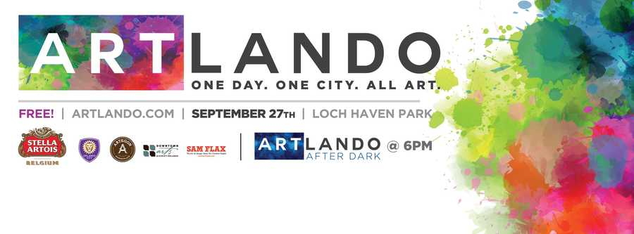 2. ArtlandoWhen: Sat., Sept. 27, 11 a.m. - 11 p.m.Where: Loch Haven Park, 900 E. Princeton St., Orlando, FL 32803Cost: Free, suggested $5 wristband for 21+There will be live performances by Orlando Ballet, Orlando Philharmonic Orchestra, Orlando Shakes, Central Florida Community Arts, Orlando Fringe, Phantasmagoria and many more. Plus there will be beer and cocktails by The Hammered Lamb, food by The Food Truck Bazaar and chalk street paintings.