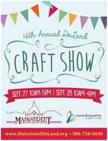 5. Deland Craft ShowWhen: Sat., Sept. 27, 10 a.m. - 5 p.m., Sun., Sept. 28, 10 a.m. - 4 p.m. Where: Downtown Deland, Indiana Ave. and S. Woodland Blvd., Deland, FLCost: FREEThe show will feature more than 100 crafters throughout the weekend, showcasing their handmade steel art, quilted items and supplies, photography, wood crafts, pottery and more. Visitors also can enjoy drinks, food and face-painting.