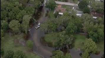 See images from Chopper 2 over flooding in Volusia County on Wednesday.