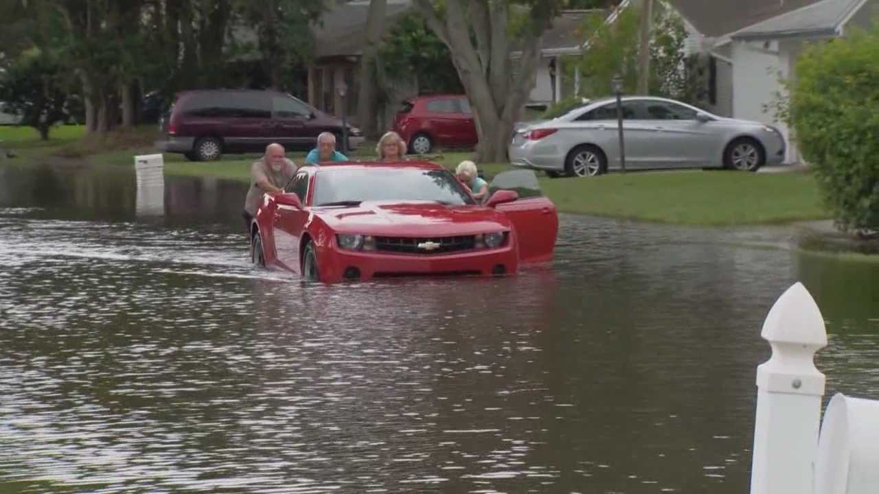 A month's worth of rain on Tuesday and Wednesday morning flooded homes and closed roads in Volusia County.
