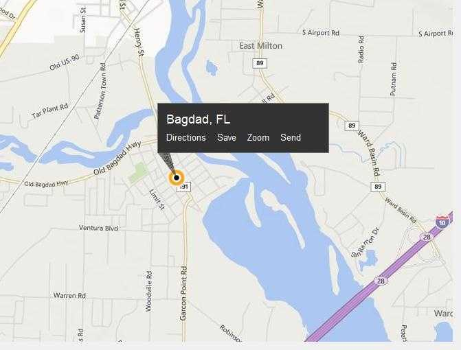 Bagdad, Fla. is located in Santa Rosa County.