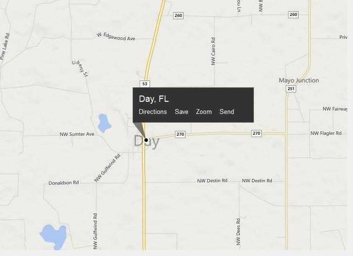 Day, Fla. is  located in Lafayette County.