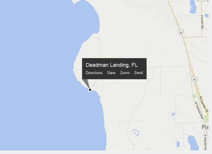 Deadman Landing, Fla. is located in Volusia County.