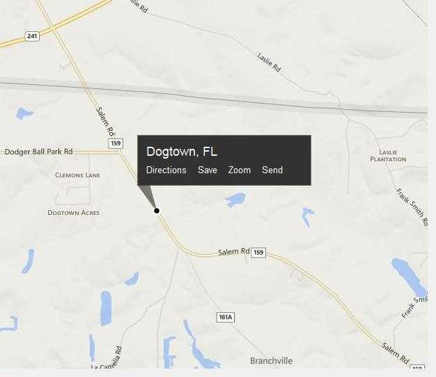 Dogtown, Fla. is located in Gadsden County.