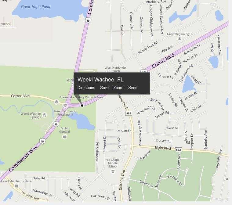 Weeki Wachee, Fla. is located in Hernando County.