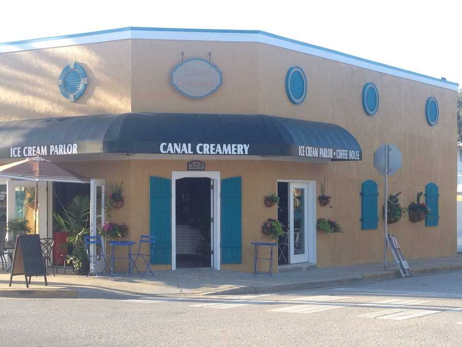 3. Canal CreameryAddress: 323 Canal St., New Smyrna Beach, FL 32168Canal Creamery serves 32 flavors of ice cream, as well as espresso and cappuccinos.