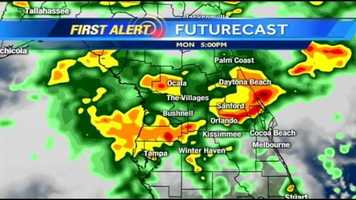 The rain continues Monday night. See an hour-by-hour look of what we're expecting. See the latest weather alerts