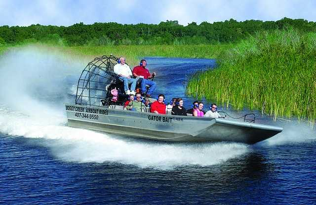 5. Boggy Creek Airboat Rides Take on the Everglades on an airboat adventure along the swampy canals. You'll come across exotic birds, turtles and even the Florida alligator.Cost: For 1/2 hour - $26.95 adults, $20.95 child | For 1 hour - $43.95 adults, $38.95 childrenLocations listed here.