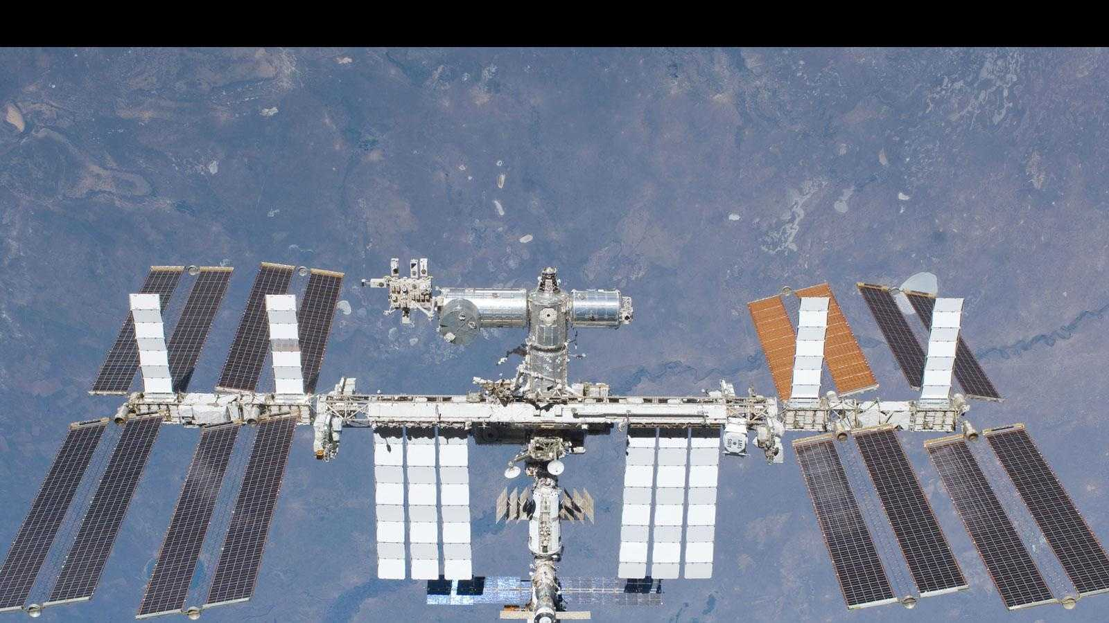 The International Space Station orbits the Earth around 18,000 miles per hour.