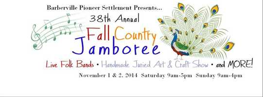 10. Fall Country JamboreeWhen: Nov. 1, 9 a.m. to 5 p.m. and Nov. 2, 9 a.m. to 4 p.m.Where: Pioneer Settlement for the Creative Arts, 1776 Lightfoot Ln., Barbervill, FL 32105Admission: $8 for adults, $5 for children ages 6-12, kids under 6 are freeActivities: Pioneer living demonstrations, live musical performances, music workshops, arts and crafts vendor booths, children's activities and BBQ dinners, homemade ice cream