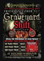 8. Graveyard ShiftWhen:Oct. 31, 9 p.m. to 4 a.m.Where:Fletcher's Warehouse, 4355 Fairmont St., Orlando, FL 32808Admission:FreeActivities:Special flame performances, a costume contest, music by popular dj's