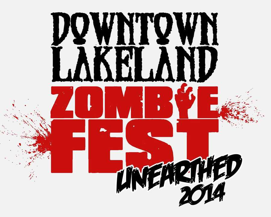4. Downtown Lakeland Zombie FestWhen: Sat., 3 p.m. - 10  p.m.Cost: $10 wristbands can be purchased from local Goodwill stores There will be plenty of scare zones, games, food, fun and zombie participants at this festival.Where: Downtown LakelandLemon Street Promenade, Lakeland, FL 33801
