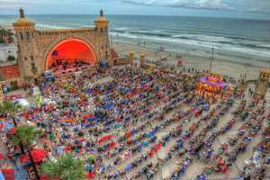 15. Friends of the Bandshell at Daytona BeachThe 4,000-seat Friends of the Bandshell is a nonprofit show hosting bands playing everything from country to classical. Previous concerts have featured New River Bluegrass Band, 5 O'Clock Charlie, Michael English, Percy Sledge, and the U.S. Air Force Academy Band.Address:70 Boardwalk, Daytona Beach, FL 32118