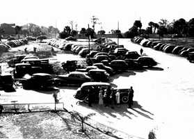 1941: The parking lot at the Lake County Fair.