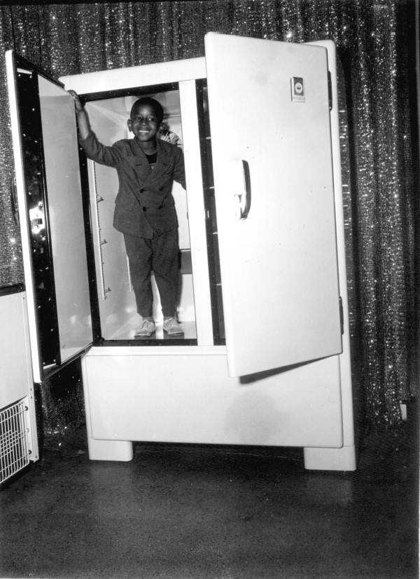 1947: A 5-year-old child checks out the Frigidaire exhibit at the Florida State Fair.