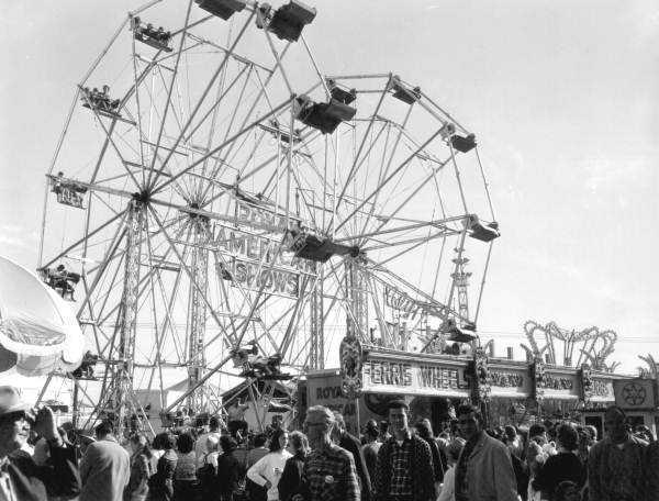 1963: Ferris wheels at the Florida State Fair.