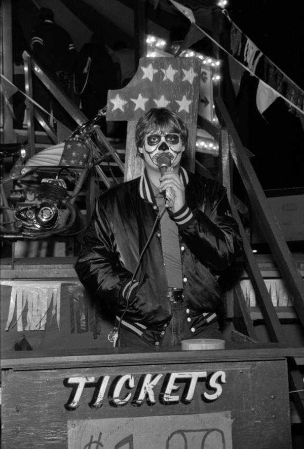 1986: Ride barker at the North Florida Fair.