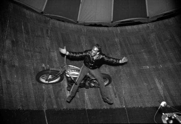 1986: Motorcycle show at the North Florida Fair.