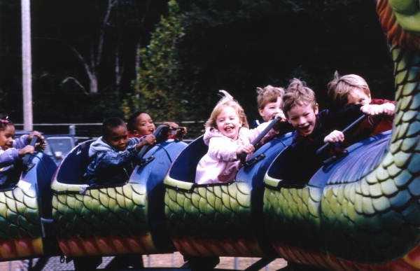 1990s: Kids having fun at the North Florida Fair.