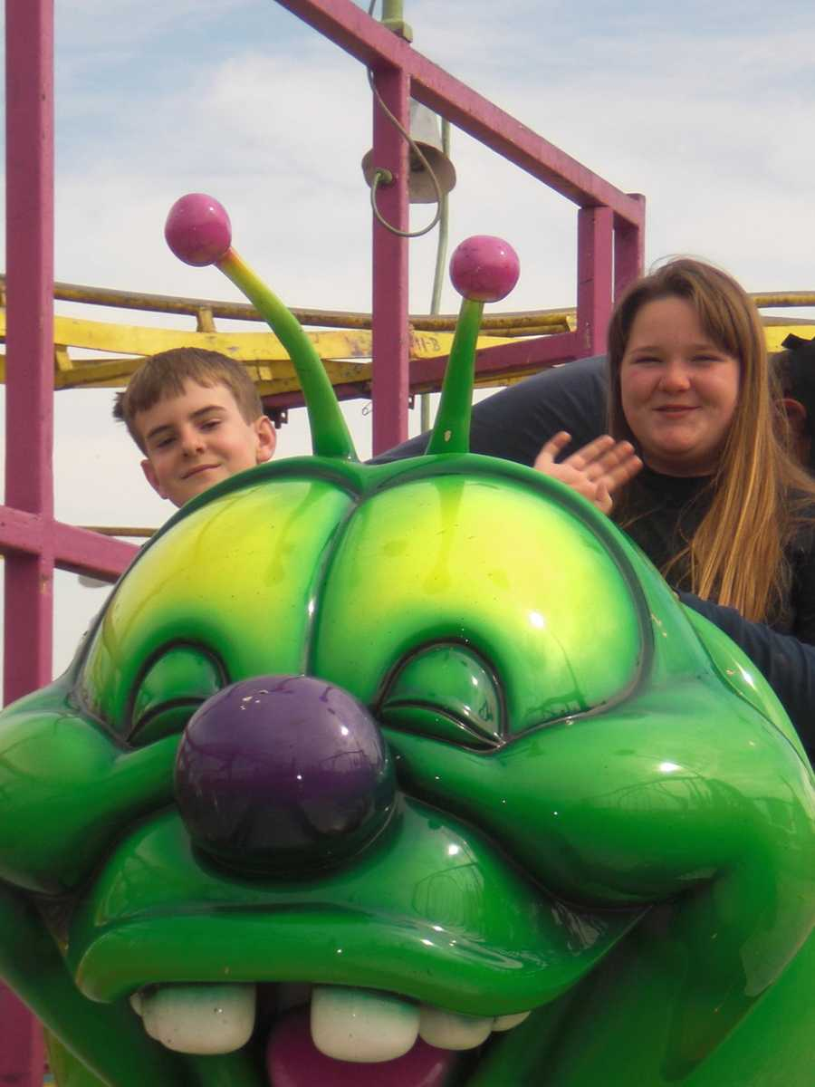 2011: Enjoying the day at the Osceola County Fair.