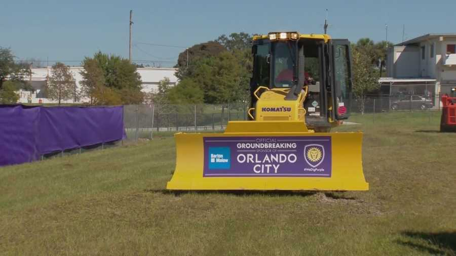 A groundbreaking ceremony was held on Thursday for the new soccer stadium for the Orlando City Soccer team.