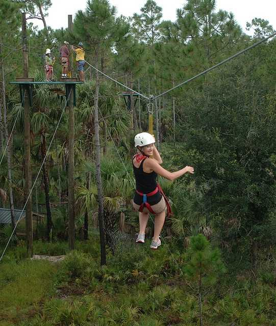 6. Zipline Safari at Forever FloridaHere, you take an exciting zipline safari through the Forever Florida eco-ranch and wildlife conservation area. This adventure allows zipliners to dash through the trees and admire the native landscape.Address:4755 N. Kenansville Rd., St Cloud, FL 34773