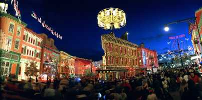 SHALL WE DANCE?: The Osborne Family Spectacle of Dancing Lights sparkle with a display of millions of colorful lights and animated displays at Disney's Hollywood Studios during the holiday season.