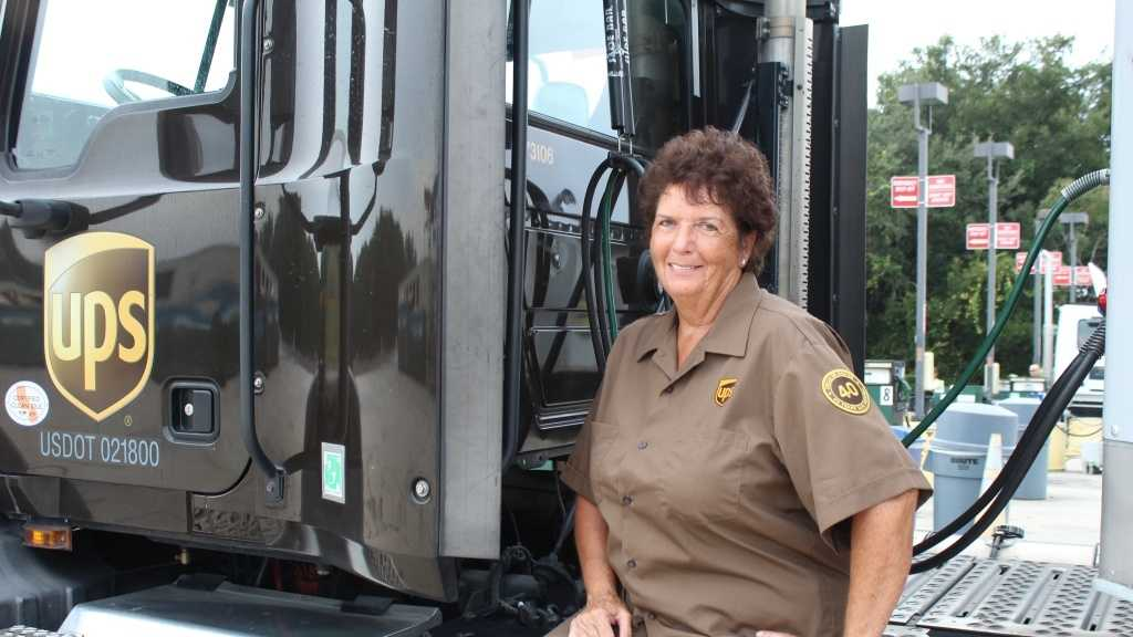 Winter Park resident, Ginny Odom, became the first female driver for UPS to drive more than 4 million miles over 40 years without an accidents.