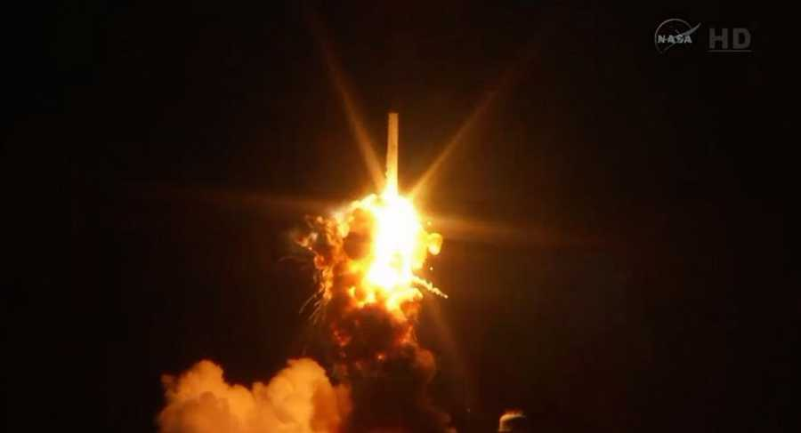 Antares rocket explodes shortly after liftoff.
