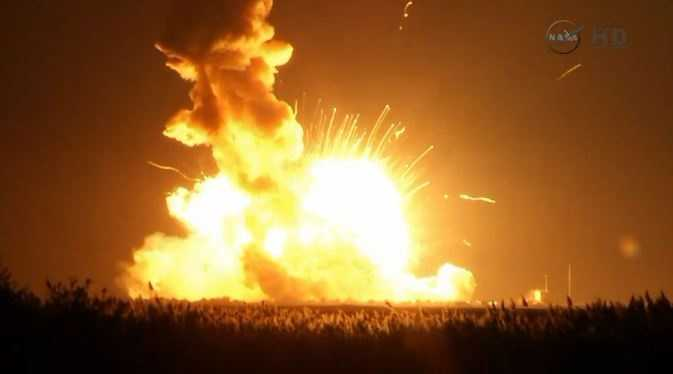 The Antares rocket was headed to the International Space Station.
