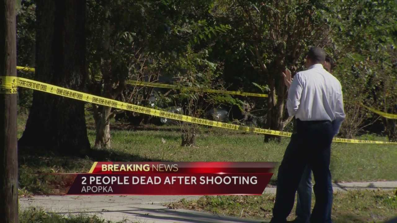 Orange County deputies said a woman burst into an Apopka home Wednesday afternoon and shot a man to death then turned the gun on herself.
