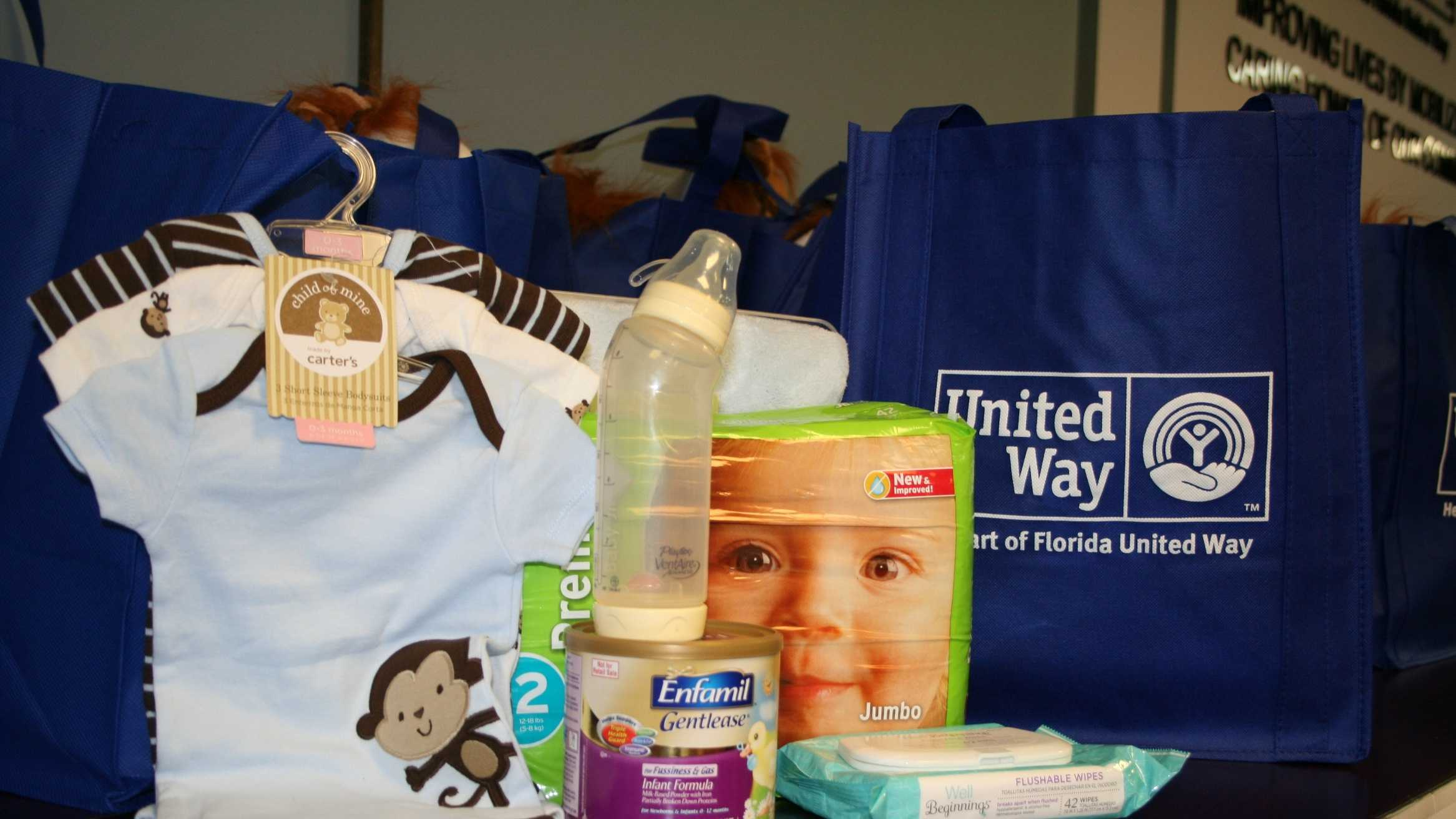 Heart of Florida United Way is collecting baby supplies for at-risk families in Central Florida.