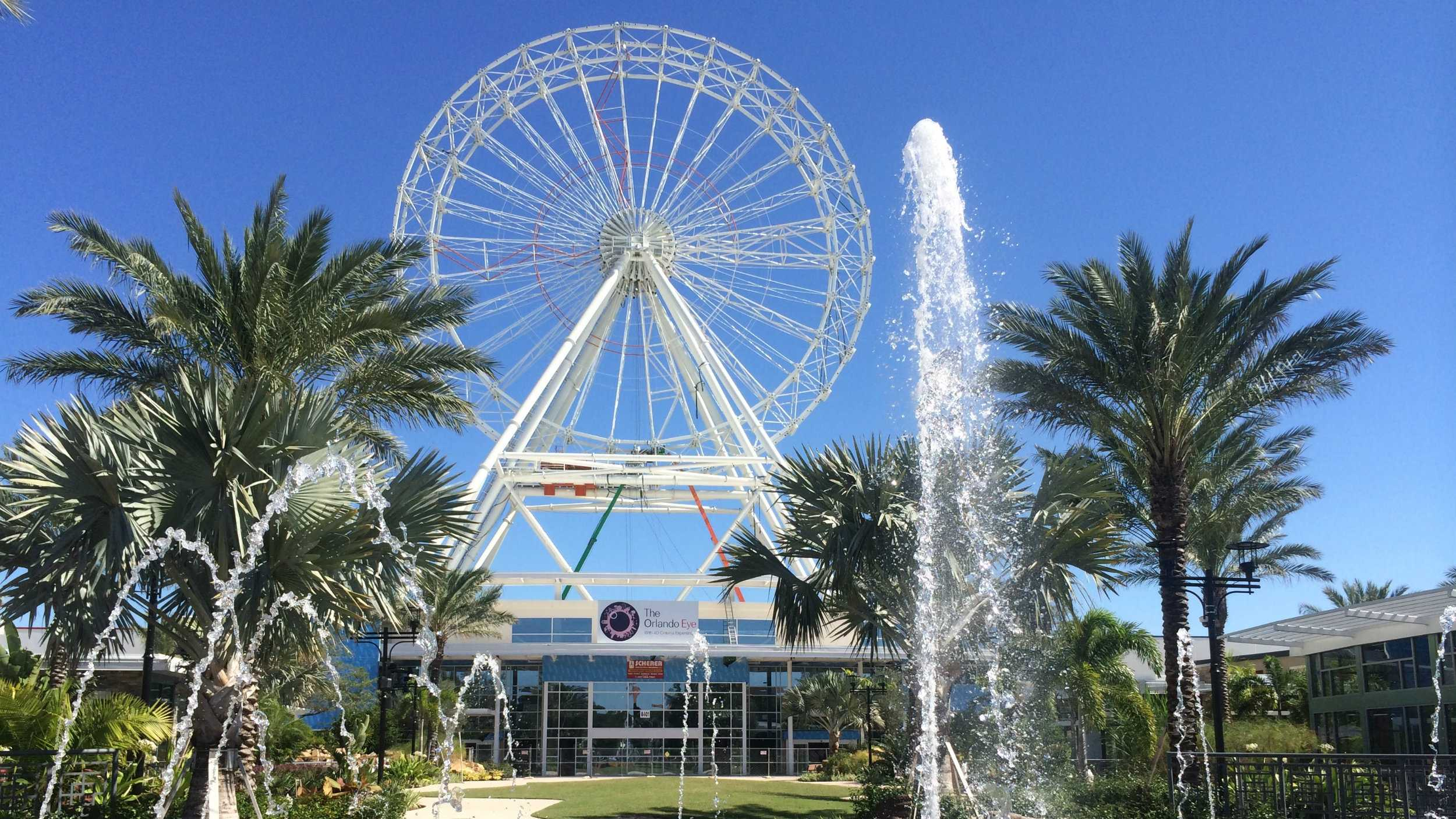 Take a look at Orlando My Way's aerial photos of the Orlando Eye's progress.