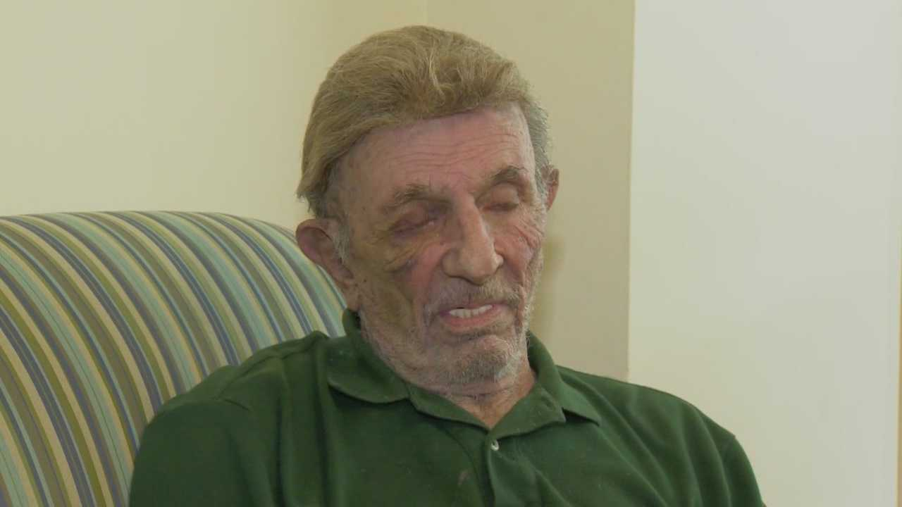 An elderly victim in Daytona Beach was choked by a man who forced his way into an apartment, stole money and then fled.