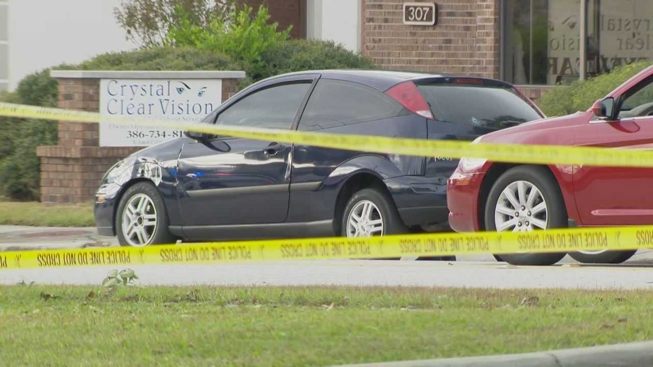 Shots fired from a speeding car hit and critically wounded a Volusia County man.