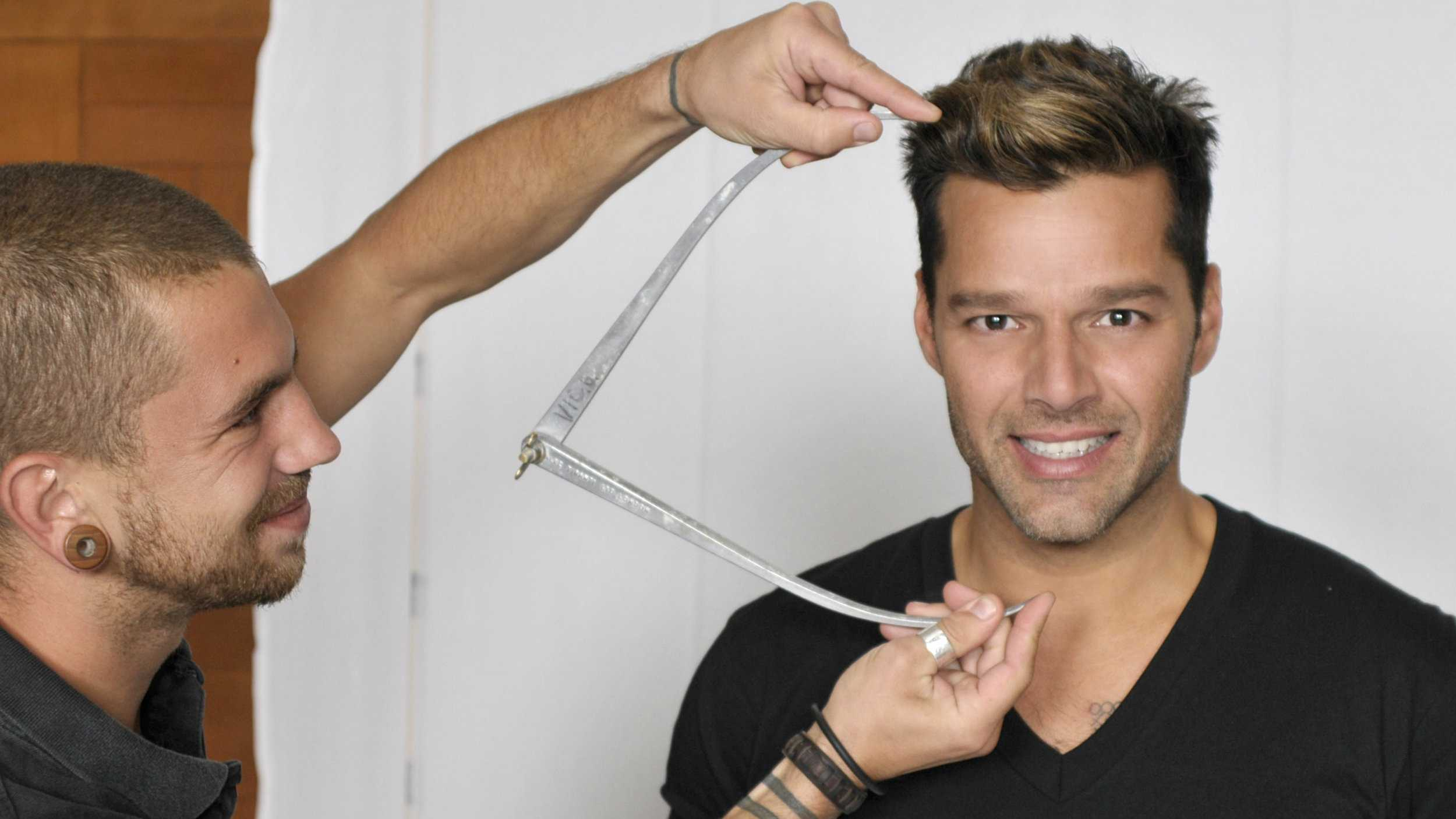 Ricky Martin meets Madame Tussauds sculptors as they take more than 500 measurements&#x3B; select hair and eye color and discuss fashion choices for his new figure, which is set to launch in Las Vegas ahead of the 2014 Latin Grammys.