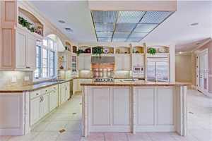 Gourmet kitchen has center Island has vegetable sink & 2nd garbage disposal.
